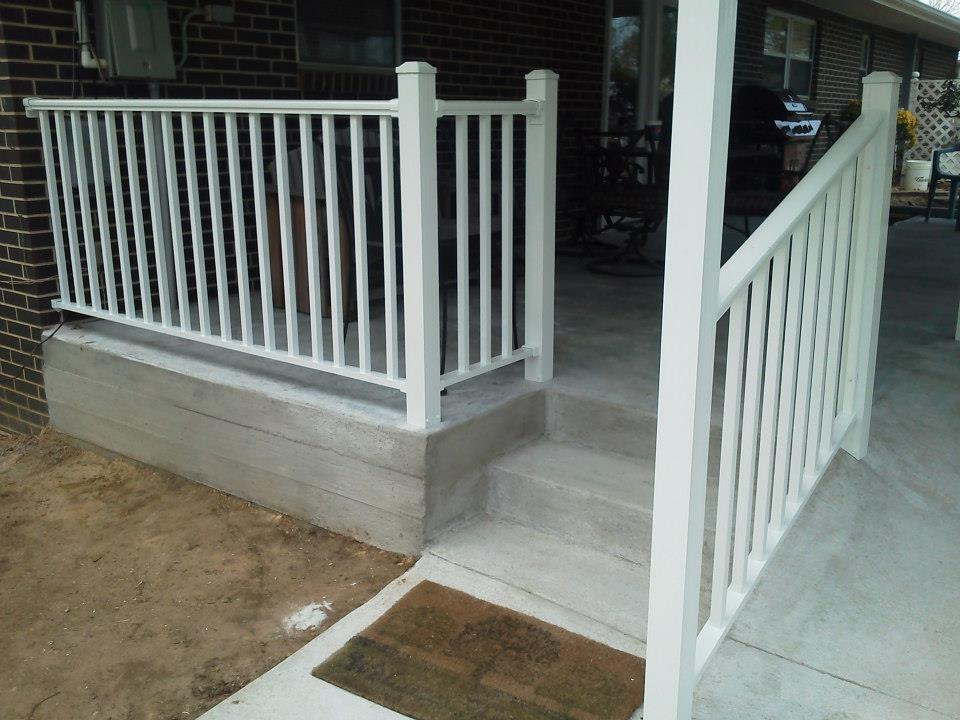 Exterior Step Handrails | Porch Handrails | Built for safety ...
